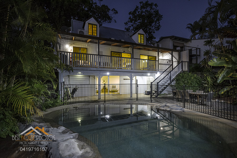 Sunshine coast house twilight photography